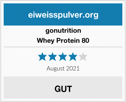 gonutrition Whey Protein 80 Test