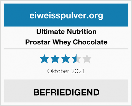Ultimate Nutrition Prostar Whey Chocolate Test
