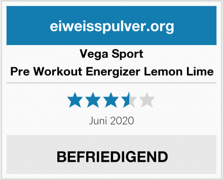 Vega Sport Pre Workout Energizer Lemon Lime Test