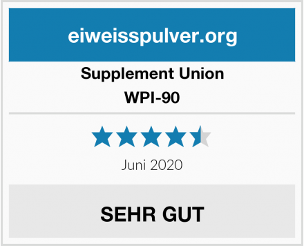 Supplement Union WPI-90 Test