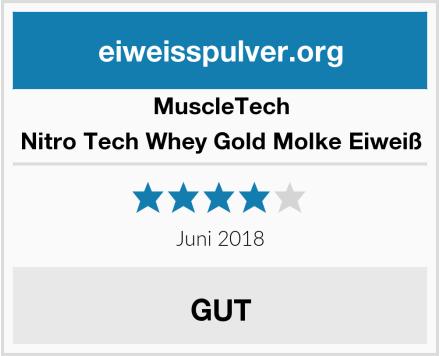 MuscleTech Nitro Tech Whey Gold Molke Eiweiß Test