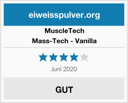 MuscleTech Mass-Tech - Vanilla Test