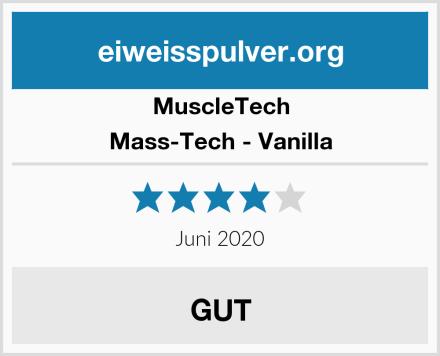 MuscleTech Mass-Tech - Vanilla Test