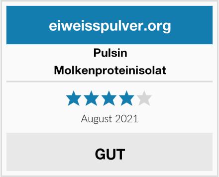 Pulsin Molkenproteinisolat Test