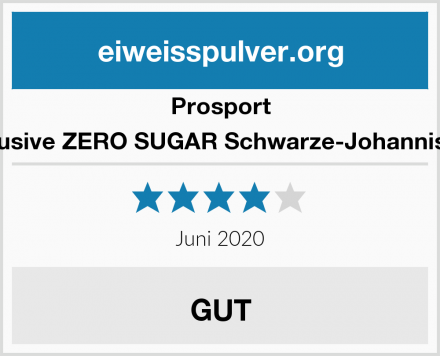 Prosport Allinclusive ZERO SUGAR Schwarze-Johannisbeere Test