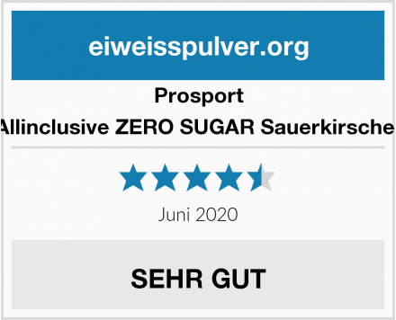 Prosport Allinclusive ZERO SUGAR Sauerkirsche  Test