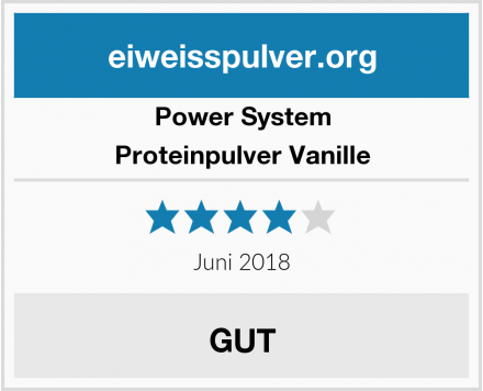 Power System Proteinpulver Vanille Test