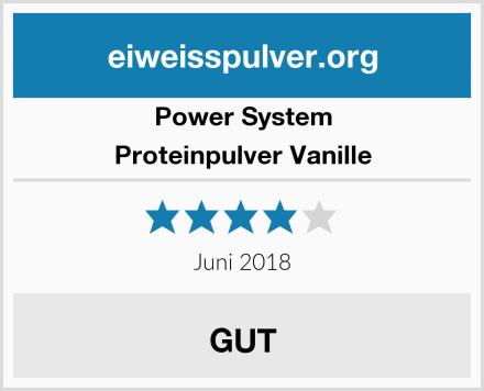 Power System Proteinpulver Vanille Test