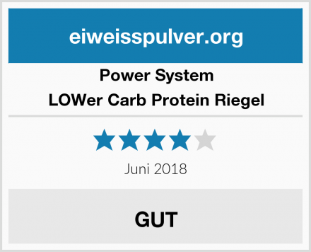 Power System LOWer Carb Protein Riegel Test