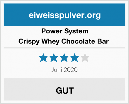 Power System Crispy Whey Chocolate Bar  Test