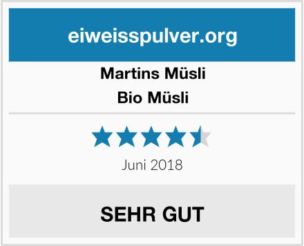Martins Müsli Bio Müsli Test