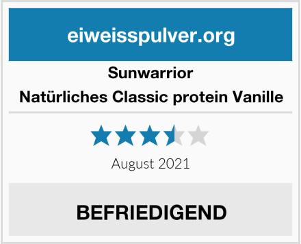 Sunwarrior Natürliches Classic protein Vanille Test