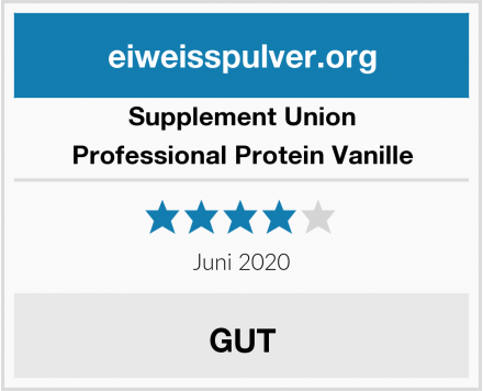 Supplement Union Professional Protein Vanille Test