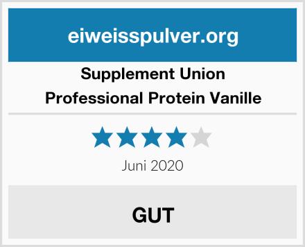 Supplement Union Professional Protein Vanille Test