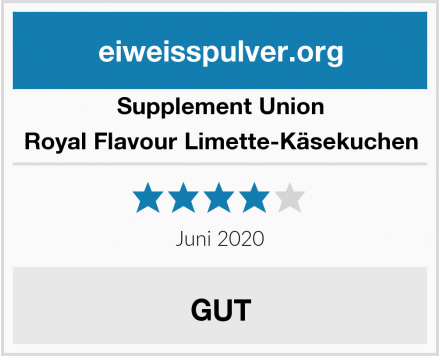 Supplement Union Royal Flavour Limette-Käsekuchen Test