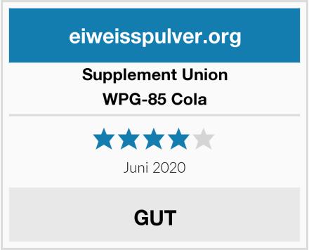 Supplement Union WPG-85 Cola Test