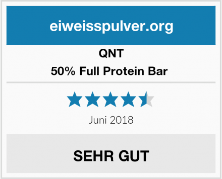 QNT 50% Full Protein Bar  Test