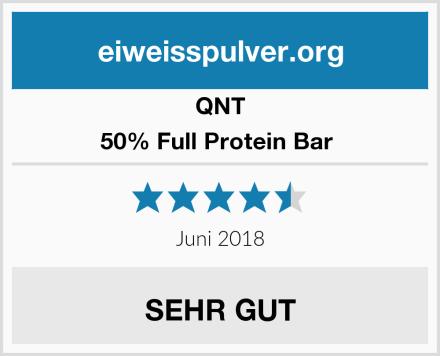 QNT 50% Full Protein Bar  Test