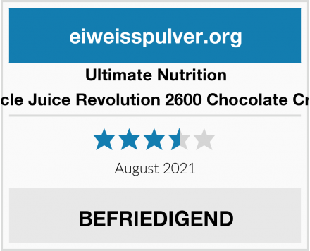 Ultimate Nutrition Muscle Juice Revolution 2600 Chocolate Creme Test