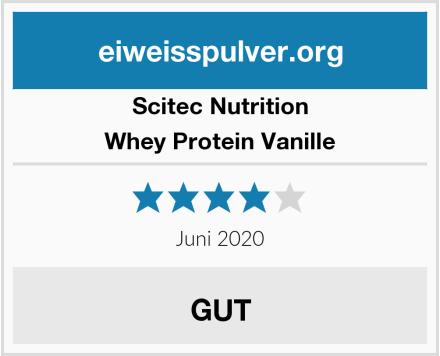 Scitec Nutrition Whey Protein Vanille Test