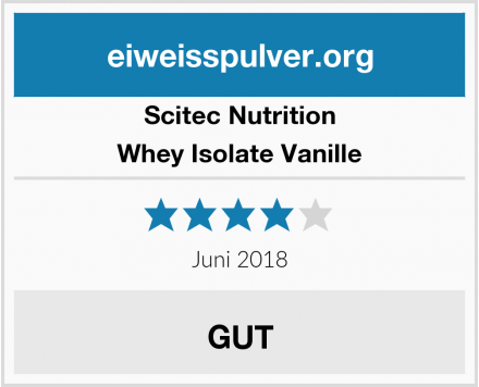 Scitec Nutrition Whey Isolate Vanille Test
