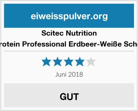 Scitec Nutrition Whey Protein Professional Erdbeer-Weiße Schokolade Test