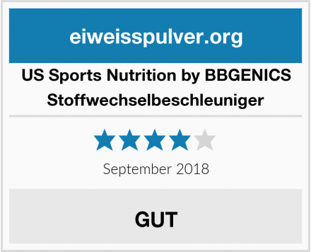 US Sports Nutrition by BBGENICS Stoffwechselbeschleuniger Test