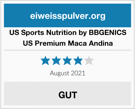 US Sports Nutrition by BBGENICS US Premium Maca Andina Test