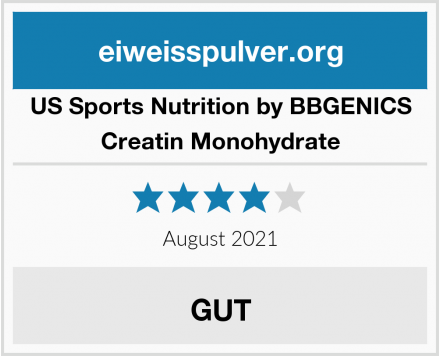 US Sports Nutrition by BBGENICS Creatin Monohydrate Test