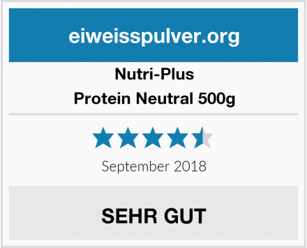 Nutri-Plus Protein Neutral 500g Test