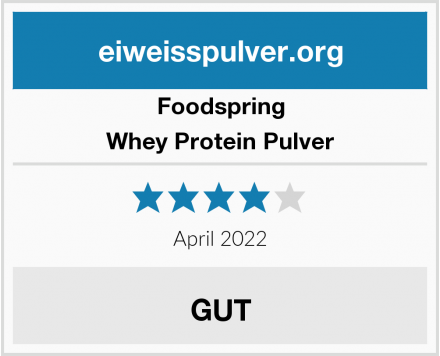 Foodspring Whey Protein Pulver Test