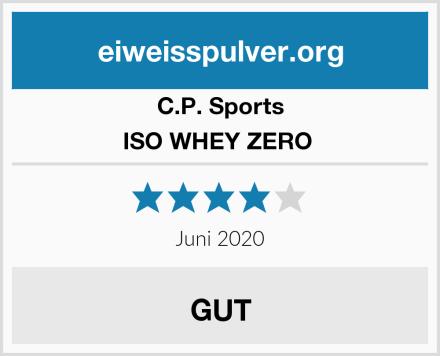 C.P.Sports ISO WHEY ZERO  Test