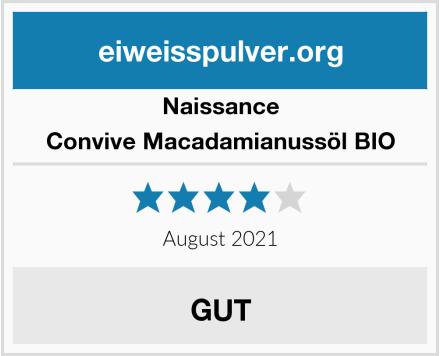 Naissance Convive Macadamianussöl BIO Test