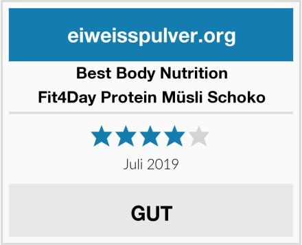 Best Body Nutrition Fit4Day Protein Müsli Schoko Test
