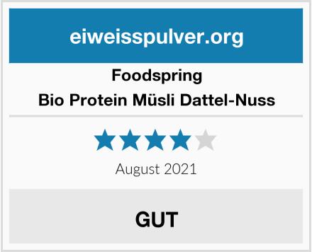 Foodspring Bio Protein Müsli Dattel-Nuss Test