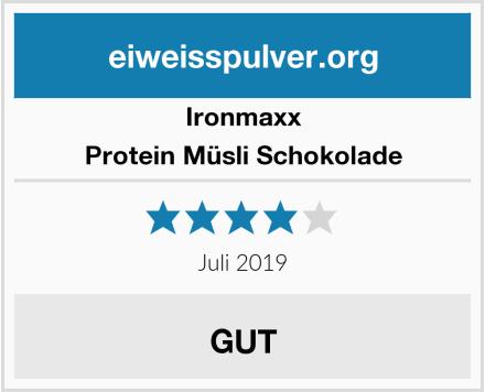 IronMaxx Protein Müsli Schokolade Test