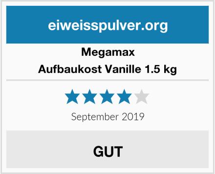 Megamax Aufbaukost Vanille 1.5 kg Test