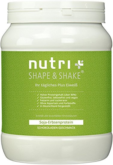 Nutri-Plus Shape & Shake Glutenfrei-Vegan Schokolade